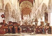 BERCKHEYDE, Gerrit Adriaensz. The Interior of the Grote Kerk (St Bavo) at Haarlem oil painting artist