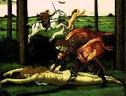BOTTICELLI, Sandro The Story of Nastagio degli Onesti (detail of the second episode)  dghg oil painting picture wholesale