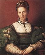 BRONZINO, Agnolo Portrait of a Lady in Green oil painting artist