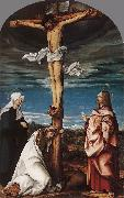 BURGKMAIR, Hans Crucifix with Mary, Mary Magdalen and St John the Evangelist oil painting picture wholesale