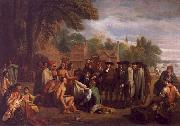 Benjamin West William Penn s Treaty with the Indians oil painting artist