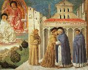Benozzo Gozzoli The Meeting of Saint Francis and Saint Domenic oil painting picture wholesale