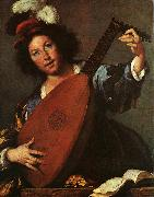 Bernardo Strozzi Lute Player oil painting picture wholesale