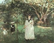 Berthe Morisot The Butterfly Chase oil painting picture wholesale