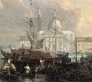 CARLEVARIS, Luca The Sea Custom House with San Giorgio Maggiore (detail) fg oil painting picture wholesale