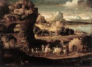 CARPI, Girolamo da Landscape with Magicians fs oil painting picture wholesale