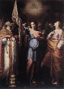 CAVAROZZI, Bartolomeo St Ursula and Her Companions with Pope Ciriacus and St Catherine of Alexandria g oil painting artist