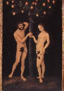 CRANACH, Lucas the Elder Adam and Eve 02 oil painting picture wholesale