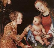 CRANACH, Lucas the Elder The Mystic Marriage of St Catherine (detail) fhg oil painting picture wholesale