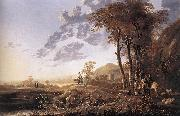 CUYP, Aelbert Evening Landscape with Horsemen and Shepherds dgj oil painting picture wholesale