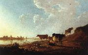 CUYP, Aelbert River Scene with Milking Woman sdf oil painting picture wholesale