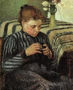 Camille Pissaro Girl Sewing oil painting picture wholesale