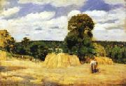 Camille Pissarro The Harvest at Montfoucault oil painting artist