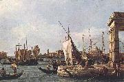 Canaletto La Punta della Dogana (Custom Point) dfg oil painting picture wholesale