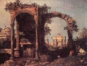 Canaletto Capriccio: Ruins and Classic Buildings ds oil painting picture wholesale