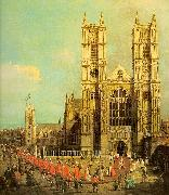 Canaletto Westminster Abbey with a Procession of the Knights of Bath oil painting picture wholesale