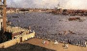 Canaletto London: The Thames and the City of London from Richmond House (detail) d oil painting picture wholesale