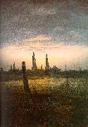 Caspar David Friedrich City at Moonrise oil painting picture wholesale