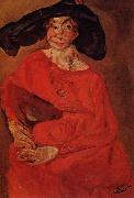 Chaim Soutine Woman in Red oil painting picture wholesale