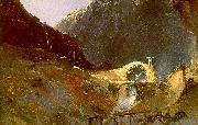 Charles Blechen The Building of Devil's Bridge oil painting picture wholesale