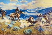 Charles M Russell Loops and Swift Horses are Surer Than Lead oil painting picture wholesale