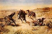 Charles M Russell When Horse Flesh Comes High oil painting picture wholesale