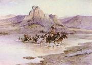 Charles M Russell Return of the Horse Thieves oil painting picture wholesale