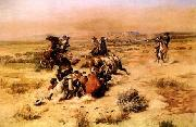 Charles M Russell The Strenuous Life oil painting picture wholesale