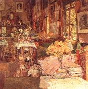 Childe Hassam The Room of Flowers oil painting artist