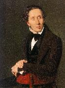 Christian Albrecht Jensen Portrait of Hans Christian Andersen oil painting picture wholesale