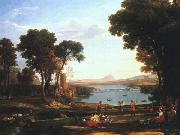 Claude Lorrain Landscape with the Marriage of Isaac and Rebekah oil painting picture wholesale