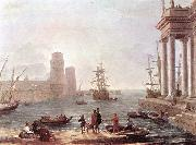 Claude Lorrain Port Scene with the Departure of Ulysses from the Land of the Feaci fdg oil painting picture wholesale