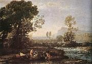 Claude Lorrain Landscape with Rest in Flight to Egypt fg oil painting picture wholesale