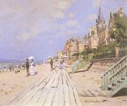 Claude Monet Beach at Trouville oil painting picture wholesale
