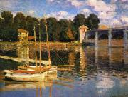Claude Monet The Bridge at Argenteuil oil painting picture wholesale