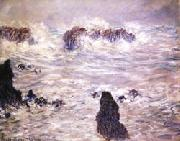 Claude Monet Storm,Coast of Belle-Ile oil painting picture wholesale