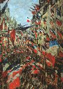 Claude Monet Rue Saint Denis, 30th June 1878 oil painting picture wholesale