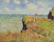 Claude Monet Walk on the Cliff at Pourville oil painting picture wholesale