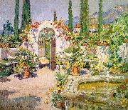 Colin Campbell Cooper A Santa Barbara Courtyard oil painting picture wholesale