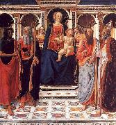 Cosimo Rosselli The Virgin and Child Enthroned with Saints oil painting artist
