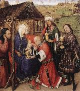 DARET, Jacques Altarpiece of the Virgin dfdsg oil painting artist
