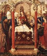 DARET, Jacques Altarpiece of the Virgin inx oil painting artist