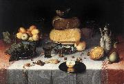 DIJCK, Floris Claesz van Still-Life with Cheesesv   sdd oil painting picture wholesale