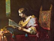 DOLCI, Carlo St Catherine Reading a Book sd oil painting artist