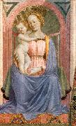 DOMENICO VENEZIANO The Madonna and Child with Saints (detail) dh oil painting artist