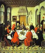 Dieric Bouts Last Supper central section of an alterpiece oil painting artist
