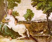 Domenichino The Maiden and the Unicorn oil painting artist