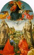 Domenico Ghirlandaio Christ in Heaven with Four Saints and a Donor oil painting picture wholesale