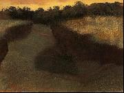 Edgar Degas Wheatfield and Row of Trees oil painting picture wholesale