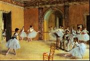 Edgar Degas Dance Foyer at the Opera oil painting picture wholesale